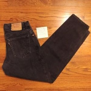 Levi's 550 Relaxed Fit Black Jeans Sz 34 x 34